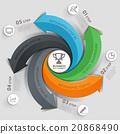 Modern arrow business template. 20868490
