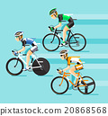 The Group of cyclists man in road bicycle racing.  20868568