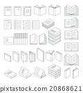 Book line icons set. Vector Illustration. 20868621