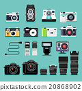 Camera flat icons. Vector illustration. 20868902