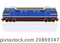 railway locomotive train vector illustration 20869347