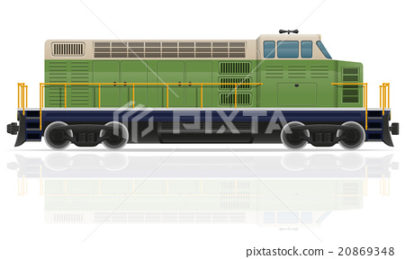 railway locomotive train vector illustration 20869348