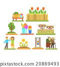 vector, gardening, person 20869493