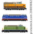 set icons railway locomotive train vector 20869882