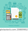 Financial Statement Conceptual Flat Style. 20869902
