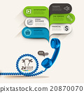 Business service and telephone with bubble speech. 20870070
