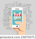 Shopping online business conceptual flat style. 20870075