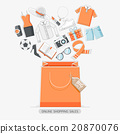Online shopping stores concept line icons style. 20870076