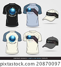 Corporate Identity. T-shirt and Cap Template 20870097