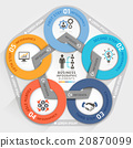 Business management circle origami style. 20870099