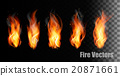 Fire vectors on transparent background. 20871661