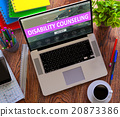 Disability Counseling Concept on Modern Laptop 20873386