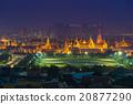 Thailand Grand palace view at night 20877290