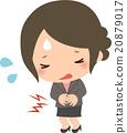 abdominal pain, stomach ache, female 20879017