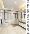 3d rendering of interior bathroom  20879678