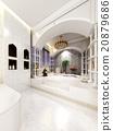 sketch design of interior  luxurious bathroom  20879686