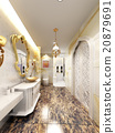 3d rendering of interior  luxurious bathroom  20879691