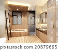 3d rendering design of interior bathroom  20879695