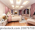 3d rendering design of interior luxury  bedroom 20879708