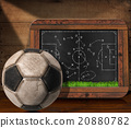 Blackboard with Football Field and Ball 20880782