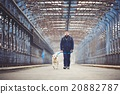 Man with his dog 20882787