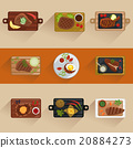 vector, meat, flat 20884273