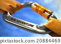 New Adventure on Chrome Carabiner between Orange 20884469
