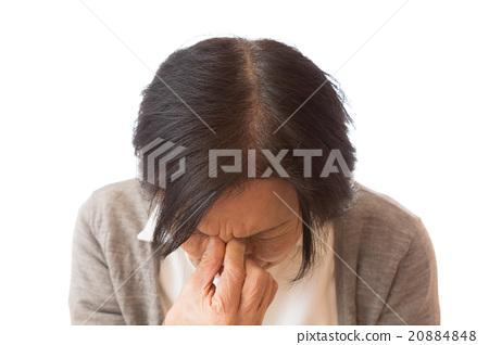年長女性 抑制 按下 20884848
