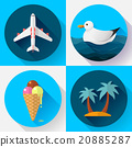 Travel and tourism icon set. Flat designed style 20885287