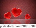 Red valentine heart background 20888704