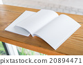Blank catalog, magazines,book mock up on wood background 20894471