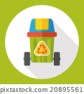 Environmental protection concept flat icon; recycled garbage 20895561