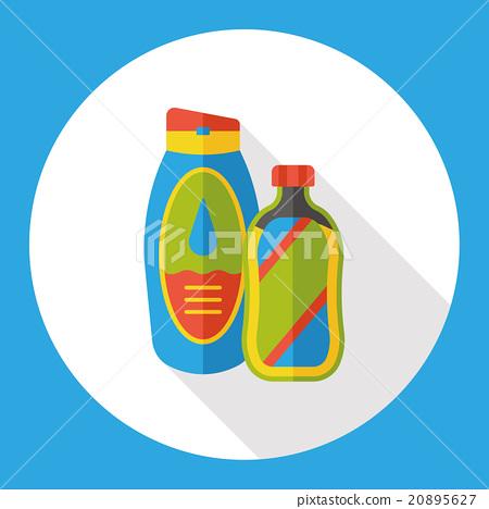washing shampoo flat icon 20895627
