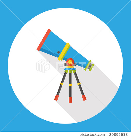 Space Telescope flat icon 20895658