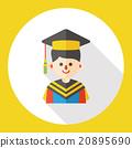 graduation student flat icon 20895690