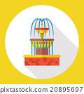 fountain water flat icon 20895697
