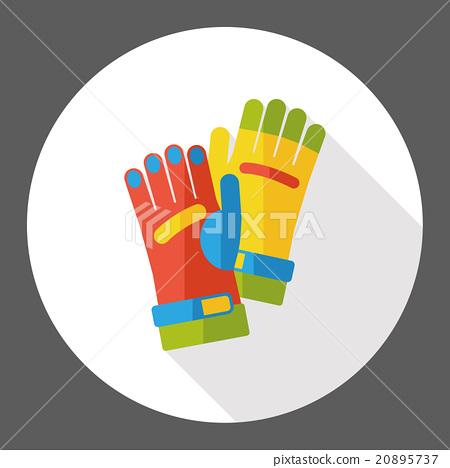 farm glove flat icon 20895737