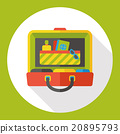 luggage case flat icon 20895793