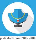 diamond necklace flat icon 20895804