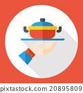 restaurant soup flat icon 20895809