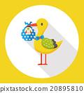 baby bird flat icon 20895810
