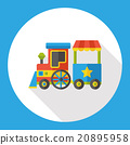 amusement park train flat icon 20895958