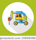 truck transportation flat icon 20896086