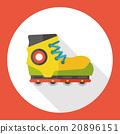 Transportation flat roller skate icon 20896151