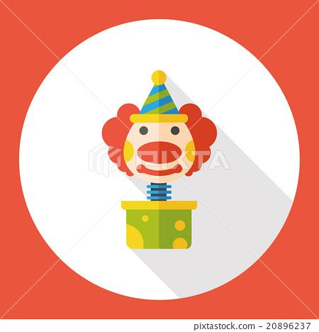 clown box flat icon 20896237