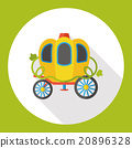 fairy tale carriage flat icon 20896328