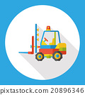 truck transportation flat icon 20896346