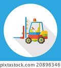 truck transportation flat icon 20896346