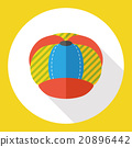 wearing hat flat icon 20896442