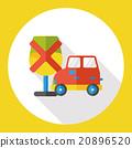 No parking flat icon 20896520
